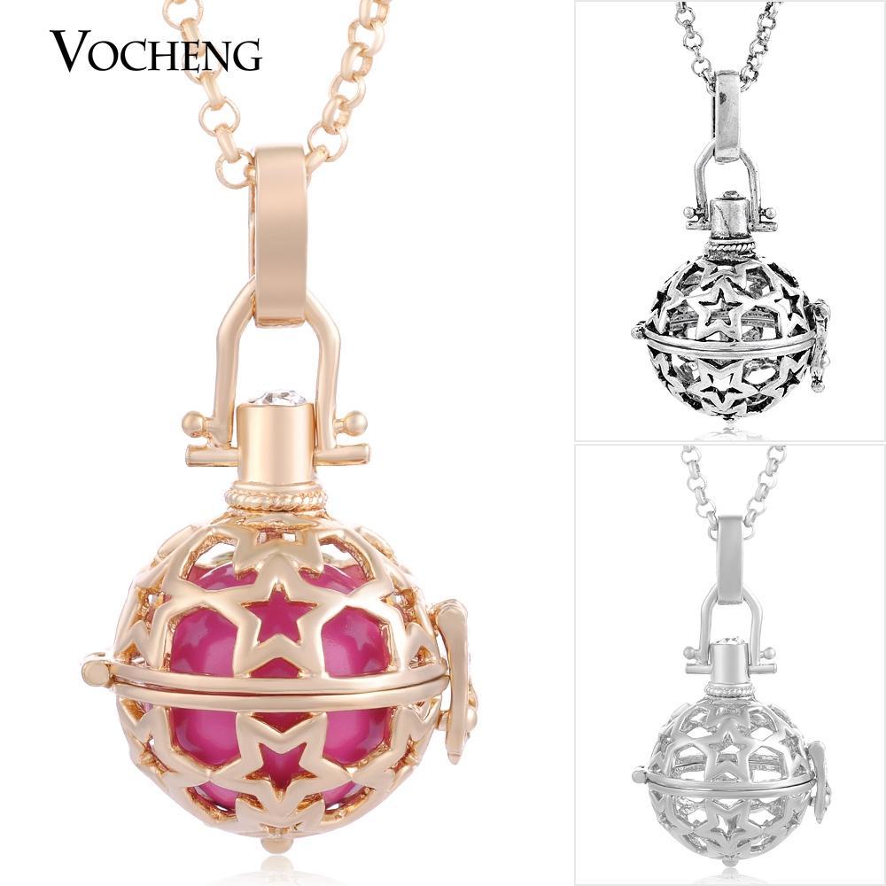 Vocheng Ball Harmony Maternity Biżuteria 3 Kolory Miedź Matal Wisiorki Naszyjnik z łańcuchem ze stali nierdzewnej VA-021