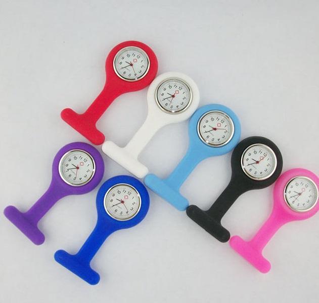 Silicona Redonda Nurse FOB Pocket Watch Candy Enfermera Doctor Reloj Linda Jelly Médico Broche FOB NurSse Clock Timer Regalo de Navidad
