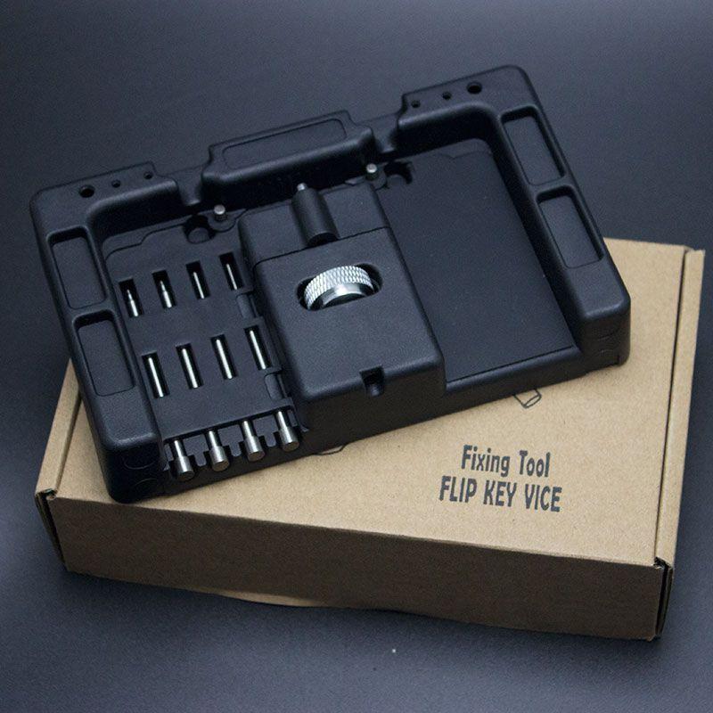 HUK 4pcs Locksmith Tools Car Remote Control Flip Key Fixing Tool Key Repair Tool Kit With Fetch Case