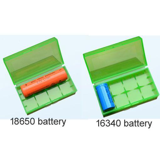 18650 Pil kutusu pil saklama kutusu plastik pil saklama kabı paketi 2 * 18650,4 * 18350 veya 4 * 16340 ecig için mekanik mod pil