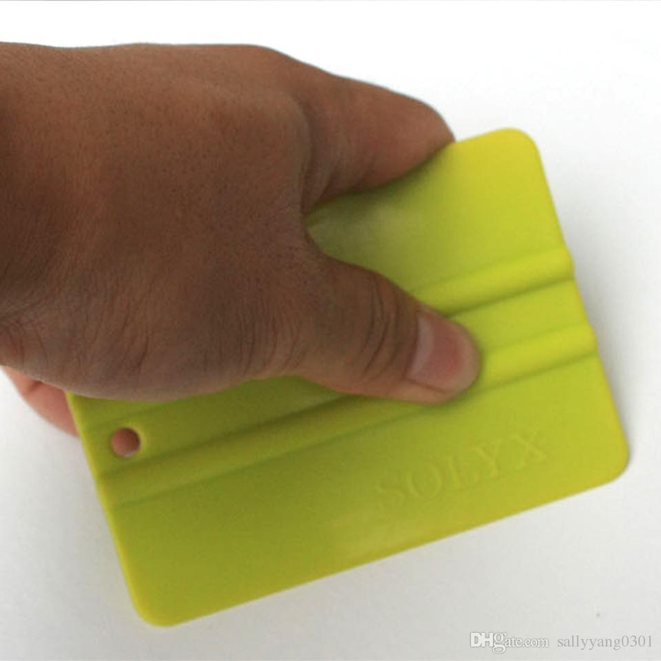машина обруча аппликатор 10 * 7.5cm бамп карты зеленый Ракель Solf скребок для автомобиля оберточной / Тонировка C-71