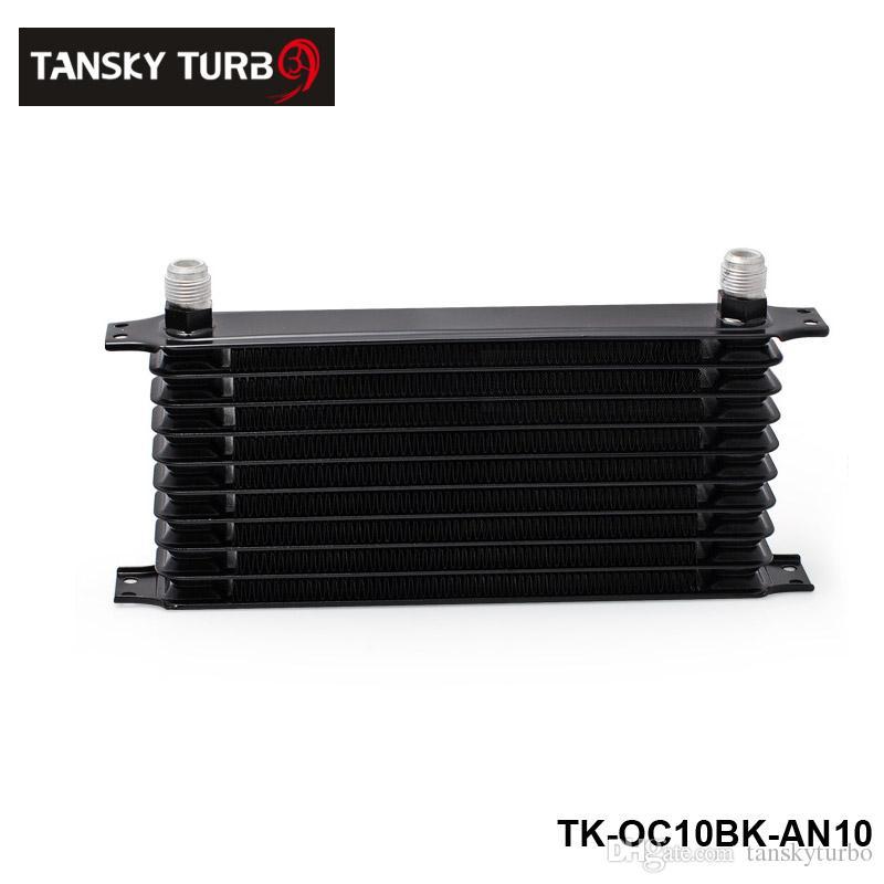Tansky - مبرد بضغط الزيت 10 الصف 10AN المحرك / ناقل الحركة ، أسود اللون ومزود بتقنية TOL-OC10BK-AN10