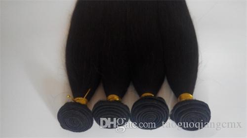 Extensions de cheveux indien de Malaisie non transformés3 4 5pcs / lot pas cher 7A Brésilien Virgin Hair Weave Trame de haute qualité couleur naturelle vente chaude