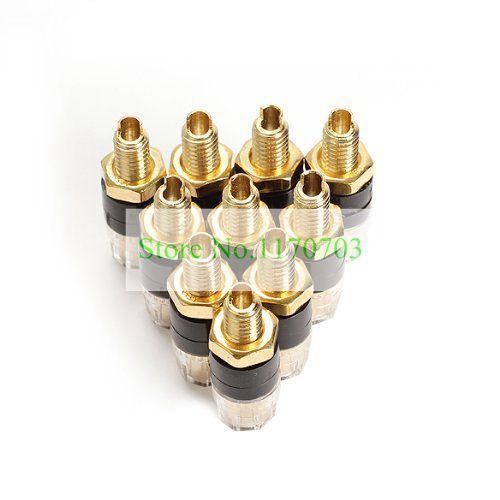 50 개 증폭기 터미널 4mm 잭 구리 바인딩 포스트 바나나 플러그