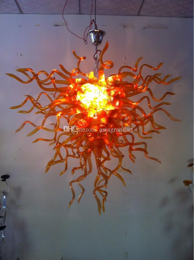 100 % 입 풍선 CE UL 붕규산 무라노 유리 데일 치 훌리 (Dale Chihuly) 예술 미세 가공 된 심플한 디자인 샹들리에