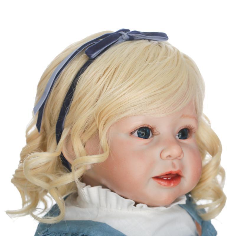 "Big Reborn baby girl doll toy newborn Soft Vinyl silicone Birthday gift 70cm//28/"""
