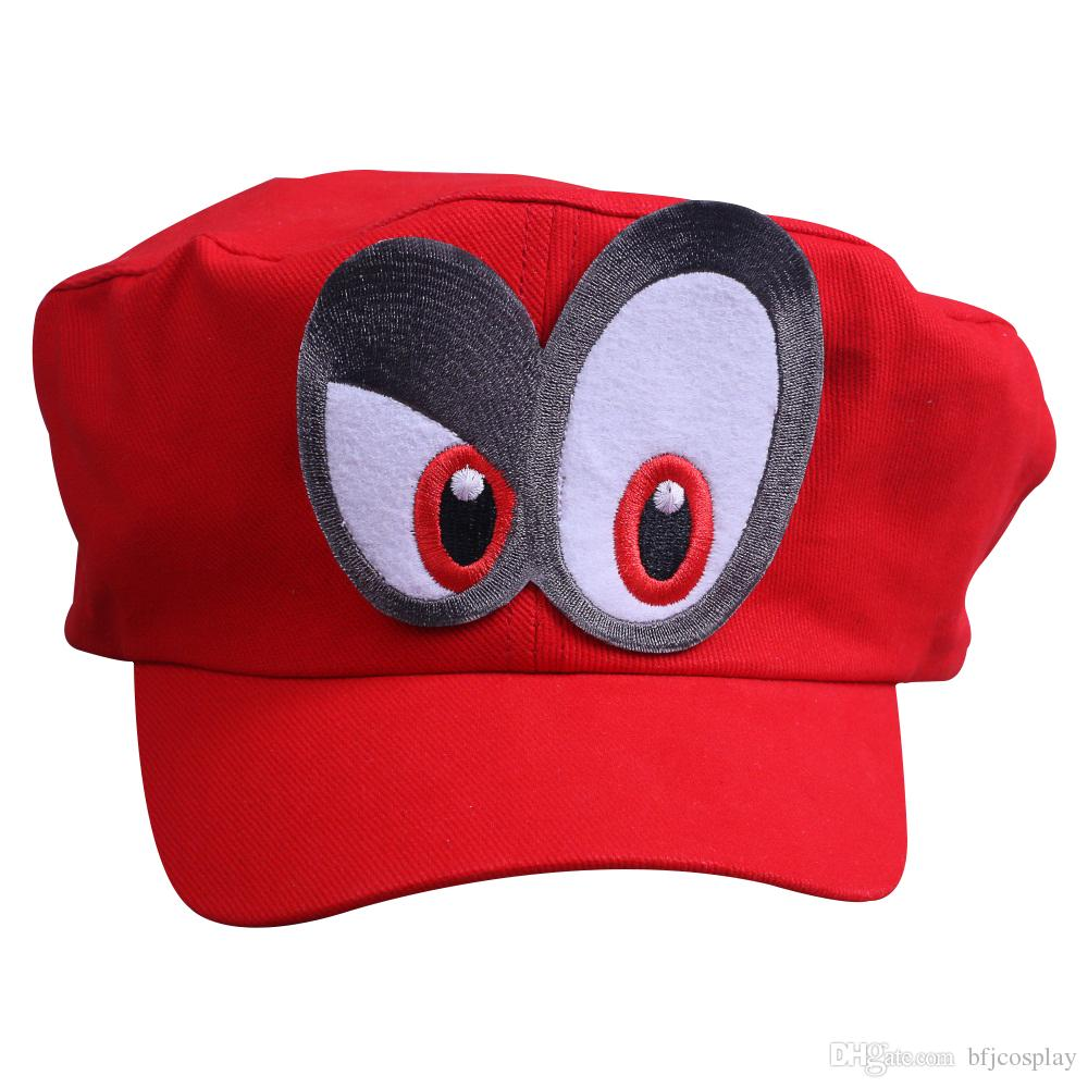 Halloween And Christmas.2019 Bfj Super Mario Odyssey Cosplay Red Hat Baseball Caps With Double Big Eyes Halloween And Christmas Gift From Bfjcosplay Price Dhgate Com