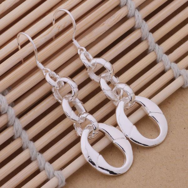 Mode (fabricant de bijoux) 20 pcs beaucoup chaîne boucles d'oreilles 925 bijoux en argent sterling prix usine mode Shine boucles d'oreilles