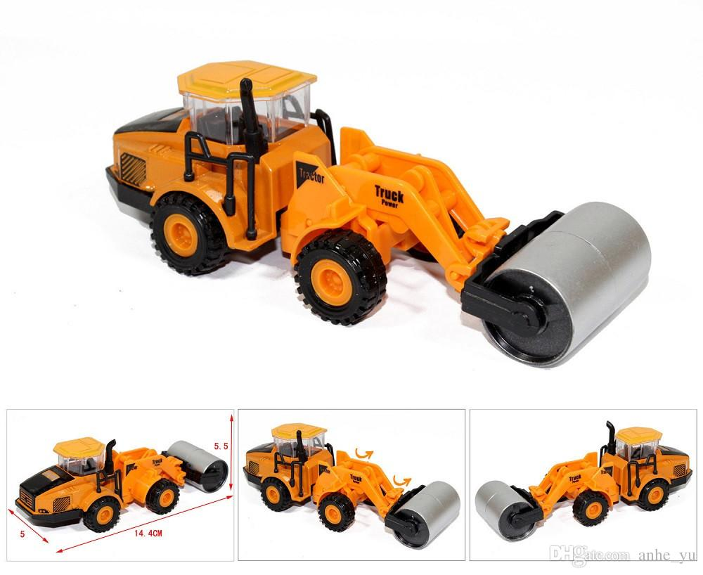 2017 1 82 mini metal alloy toy engineering vehicles road roller