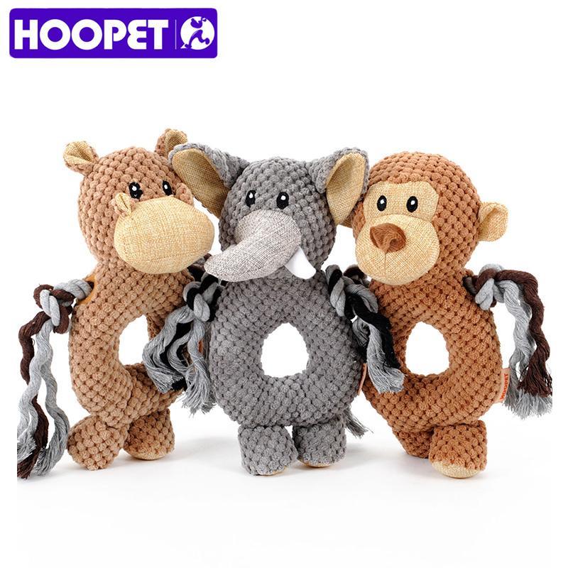 HOOPET cão de estimação Voz brinquedo de pequeno cão brinquedo macaco anel de elefante pet brinquedos treinamento do animal de estimação cão jogando brinquedo