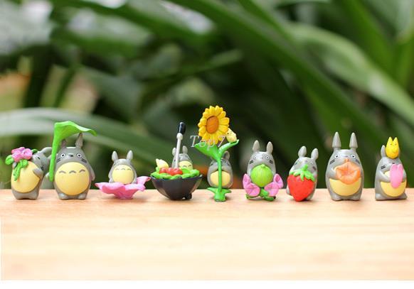 هدايا عيد 9 قطعة / الوحدة لطيف نمط الاطفال الساخن أنيمي جارتي totoro عمل أرقام pvc لعب totoro نموذج لعبة juguetes هدية للأطفال