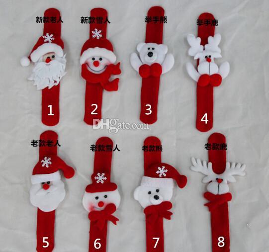 Boże Narodzenie zabawki na nadgarstek pasek na nadgarstek świąteczne dostawy dekoracji mały prezent dla dzieci Santa Claus Snowman Deer