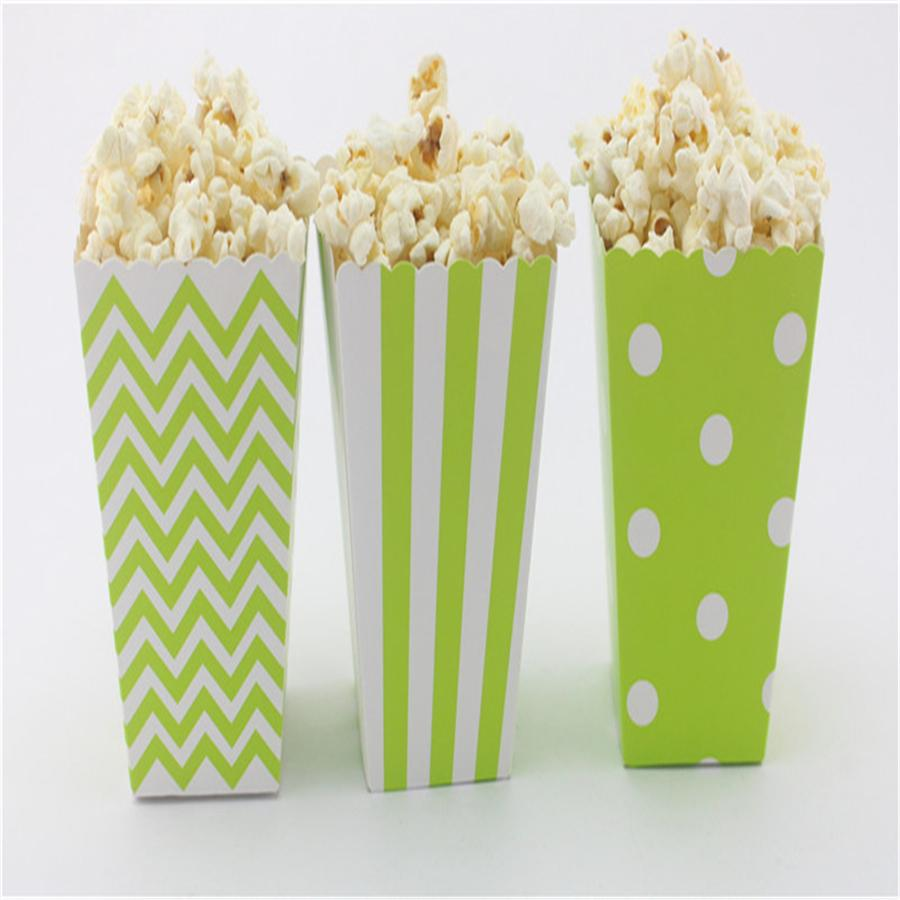 Green Paper Popcorn Boxes Mix Pack Candy Buffet Dessert Table Wedding Favors Mini Movie Theater Popcorn Box Personalized Kids Party Favors Personalized Party Favors From Productsforparty 20 11 Dhgate Com
