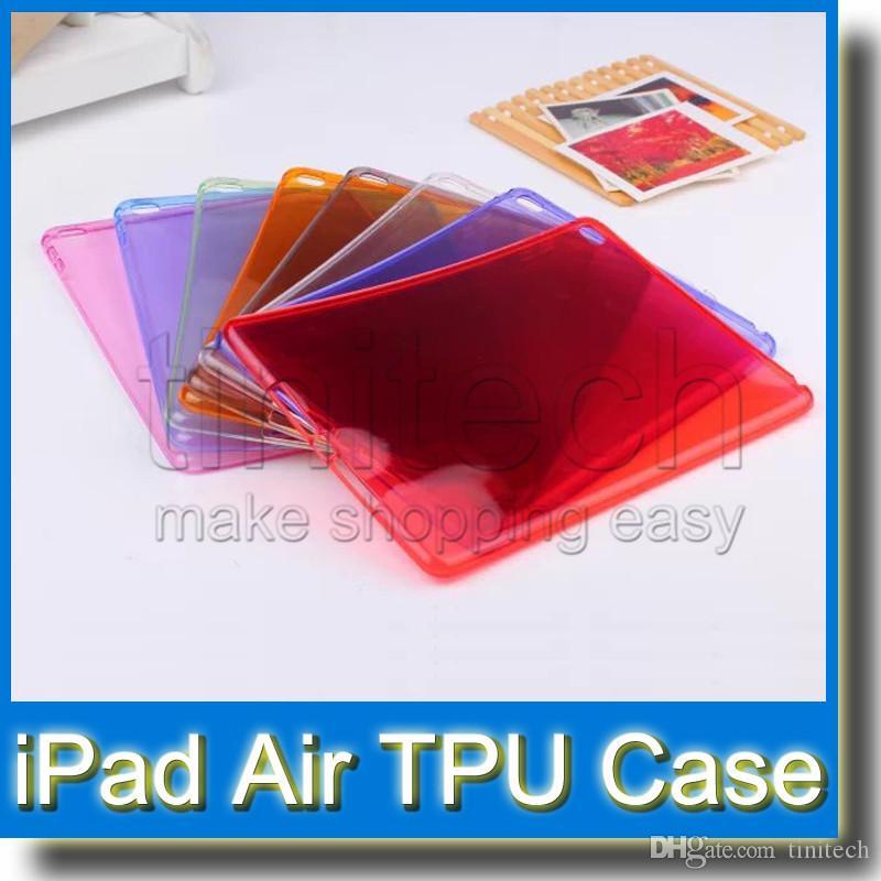 غطاء حماية خلفي مطاطي ناعم من السيليكون TPU ل iPad Air 2 Air 2 iPad Mini 1 2 3