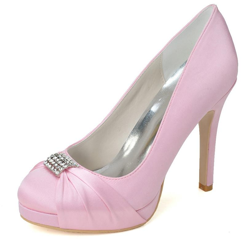 6915 04 Cute Pink Wedding Shoes With