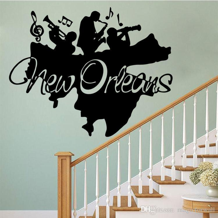 New Orleans Jazz Wall Art Mural Decor Sticker Jazz Band Wall