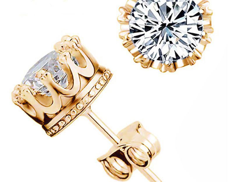 925 실버 귀걸이 천연 크리스탈 도매 패션 작은 스털링 실버 주얼리 여자 스터드 남자 또는 여자 earings