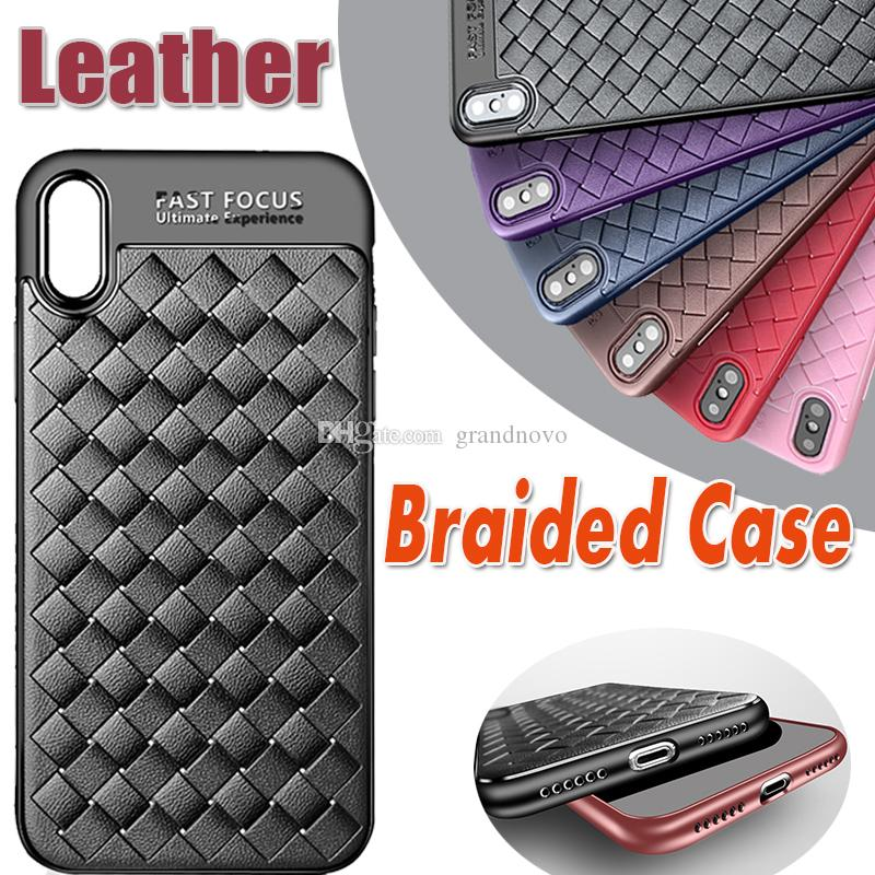 New Design Braided Pattern Case Soft Silicone TPU luxury Striae Imitation Shockproof Protective Cover For iPhone XS Max XR X 8 7 6 6S Plus