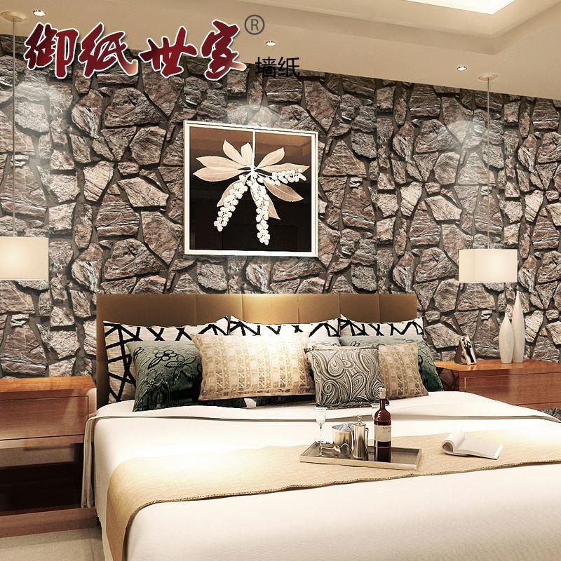 luxury modern 3d stereo pvc vinyl brick wallpaper stone wallpapers
