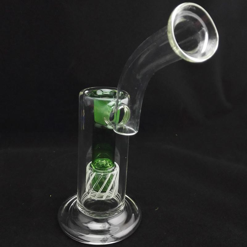 """18.8mm Joint Glass Oil Rig 9 """"polegadas Bongos de Água Interna Verde Bongos de Água Clara Bongo de Vidro de Vidro Bongo de Vidro Bongos de Água para Fumar"""