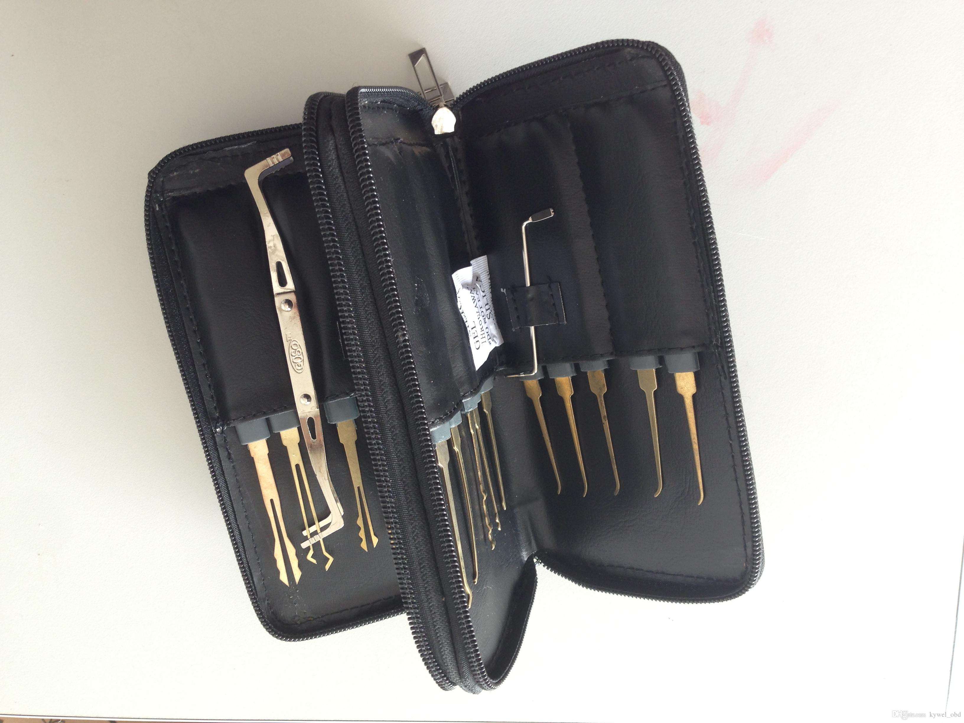 Good Quality GOSO Titanize 20pcs Hook Picks w/ Bag Locksmith Tool Lock Pick Set Lockpick Locksmith tools