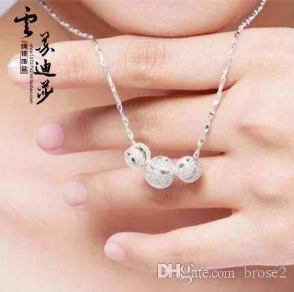 Мода Ювелирные Изделия Высокое Качество Подвеска 8 мм Ожерелье Женщины Ювелирные Изделия 24 шт. Дополнительный стиль Бесплатная доставка