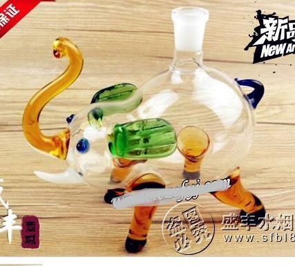 Cachimba al por mayor libre del envío - pequeño elefante de la cachimba de la cachimba de cristal [Vidrio, entrega al azar del color