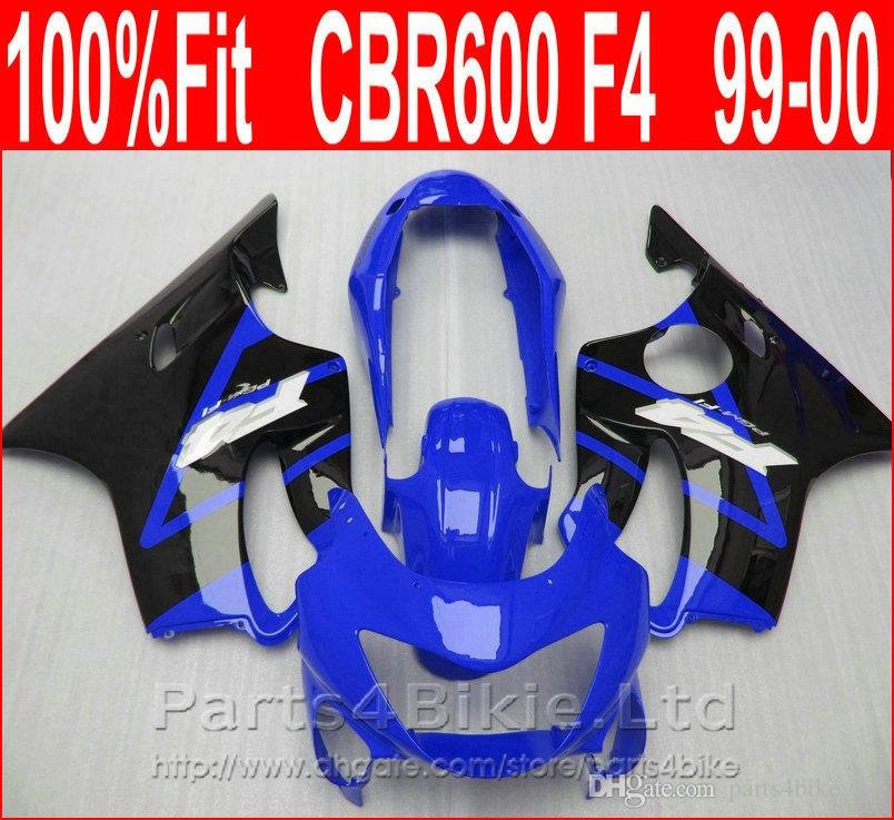 Brand Body parts Fitment for Honda CBR 600 F4 dark blue black custom fairings 1999 2000 fairing kit CBR600 F4 99 00 CAPD