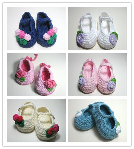 2015 Crochet newborn baby girl shoes baby moccasins hand knitted baby shoes girl knitted baby booties