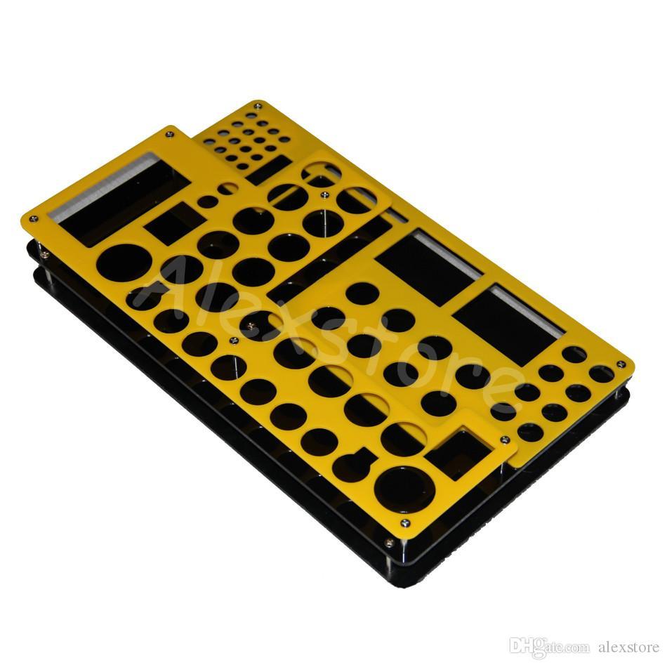 Kolorowe Akrylowe E Cig Display Rama Elektroniczny Półka Papierosowa Wystawa Pokaż Stojak Uchwyt Półka Dla Mech Mechical Mod RDA RBA Atomizer DHL
