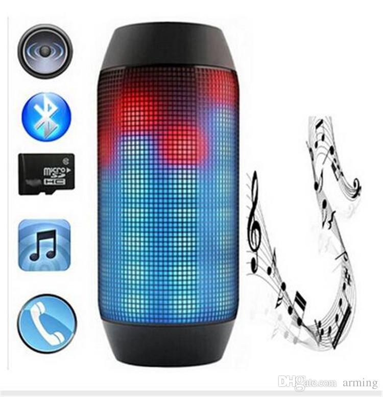 Fashion Portable Wireless Bluetooth Mini Speaker wireless Streaming Colorful 360 LED Lights good quality free shipping