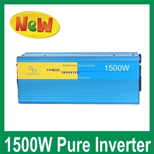 고품질 SINE PURE WAVE 1500W 피크 3000W 태양 광 인버터 오프 그리드 시스템 입력 DC12 / 24V 출력 100 / 220V 또는 220 / 230 / 240V