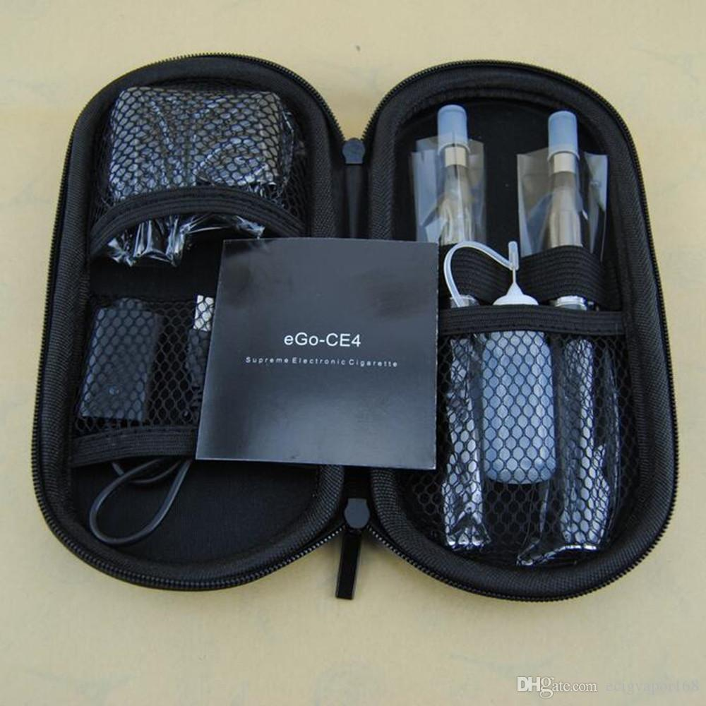 eGo-T CE4 double starter kits Electronic Cigarettes Ego 650 900 1100 mah battery ECigs dual ce4 vaporizer clearomizer tank vape pen case kit