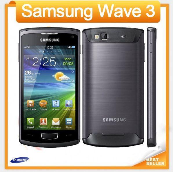 Bonne qualité Original Samsung S8600 Wave 3 téléphone mobile 5MP Appareil photo 3G wifi GPS 4.0 '' remis à neuf téléphone débloqué