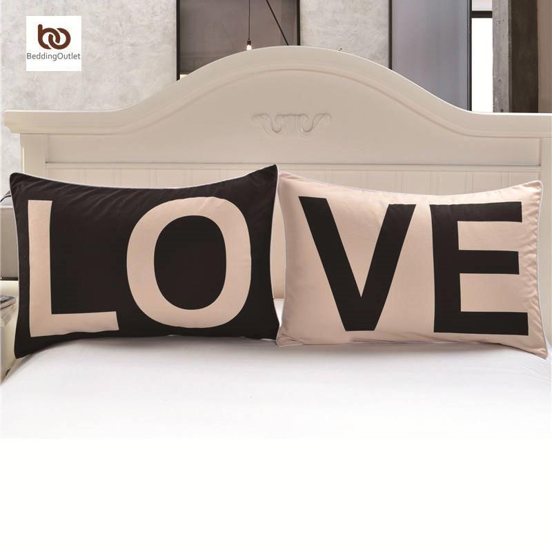프로모션 러브 투게더 베개 케이스 신년 선물 장식 커버 20inchx30inch 바디 베개 케이스 홈 침구 발렌타인 선물