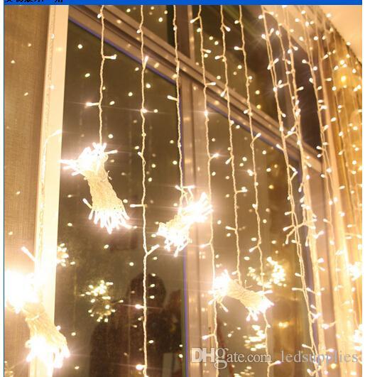 8 M * 4 M 1024LEDS Icicle Dize Perde Işıkları Noel Noel Peri Işıkları Açık Ev Düğün / Parti / Perde / Bahçe Dekorasyon için