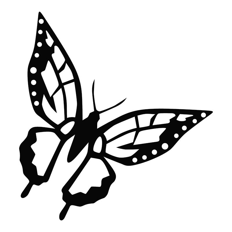 Skull Butterfly Wings Moth Car Truck Window Laptop Vinyl Decal Sticker