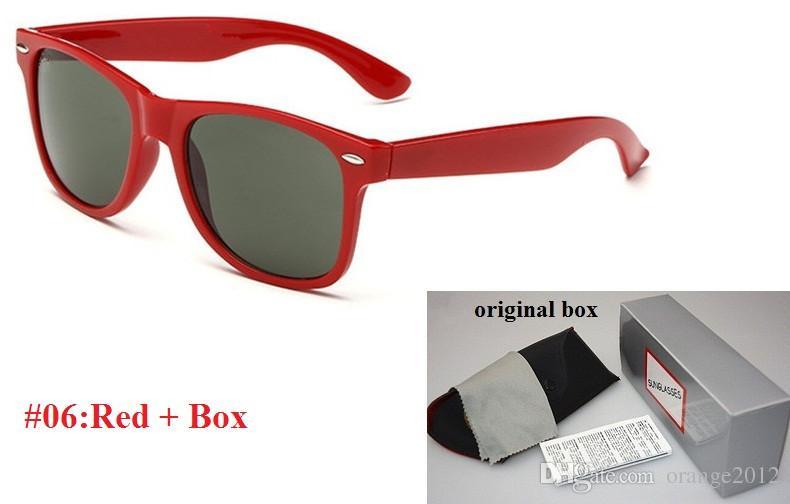 2018 브랜드 디자이너 패션 남자와 여자 선글라스 자외선 보호 스포츠 빈티지 선글라스 복고풍 아이웨어 박스 및 케이스 포함