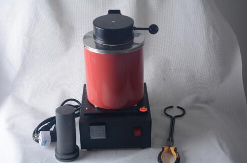 O derretimento automático da fornalha de derretimento 2kg de prata do ouro derrama o controlador de Digitas da barra