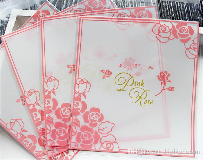 Neue 400 teile / los Kleine Accessoires Zellophan Favor Mini Taschen, Dichtung Party Geschenk Verpackung, Rosa Rosen 10x10 + 3 cm umschlag