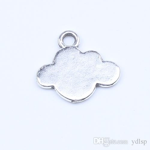 New fashion silver/copper retro Cloud Pendant Manufacture DIY jewelry pendant fit Necklace or Bracelets charm 200pcs/lot 5210w