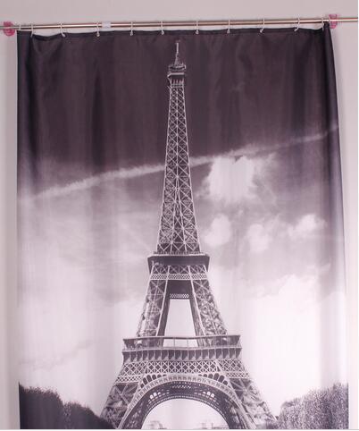 Nova marca cool Torre Eiffel Cortina de Chuveiro de Banho à prova d 'água Prevenir mofo cortinas de tecido do dia das bruxas para o banheiro