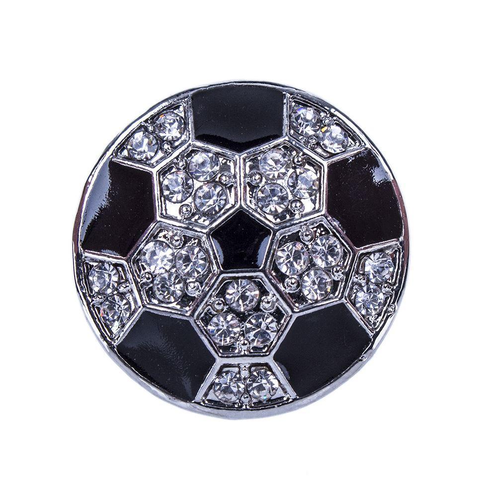 NSB2607 Vendita calda Bottone a scatto per gioielli Bracciale Collana Moda Gioielli fai-da-te Crystal Football Design Lega Scatta produzione di gioielli, noosa