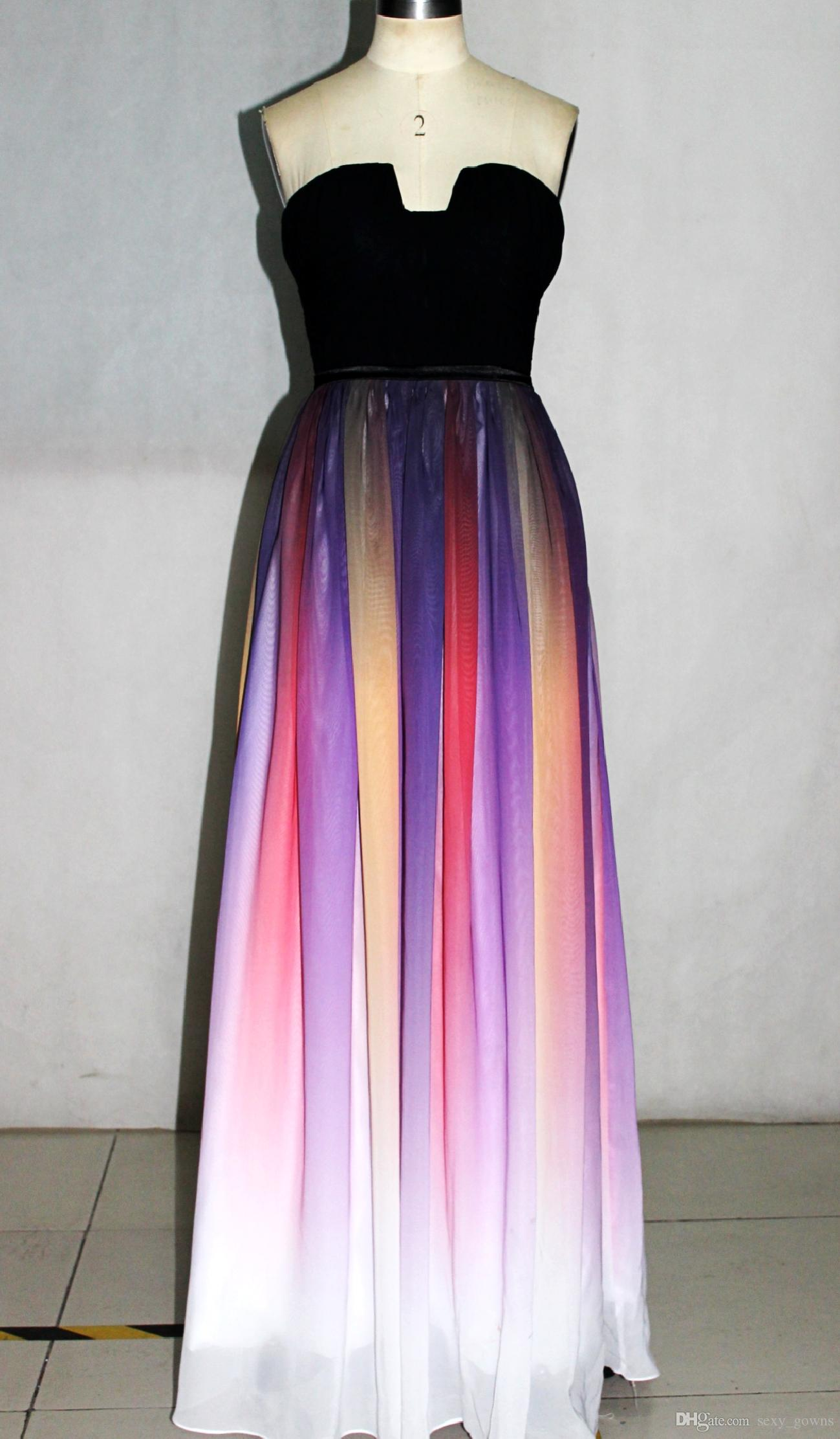 Cheap Elie Saab Evening Dresses Sash Belt Backless Gradient Color ...