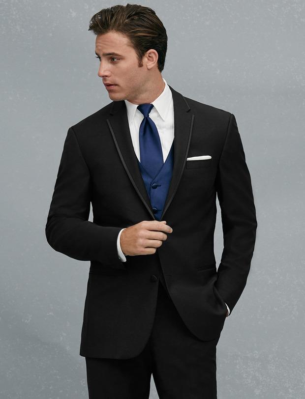 Custom Made Two Button Black Groom Tuxedos Notch Revers Groomsmen Mens Bruiloft Prom Pakken (jas + Broek + Vest + Tie) H286