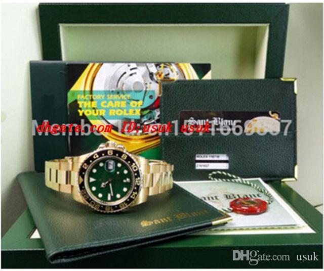 Luxus Armbanduhr Neue Saphirgrün Index 116718 II Keramik Automatik Herrenuhr Uhren Original Box-Dateien