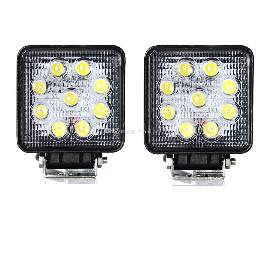 2pcs 4'' inch 27W LED Work Lights For Truck 4X4 Accessories Driving Light Spotlight 12V 24V Car SUV ATV Led Tractor Work Light