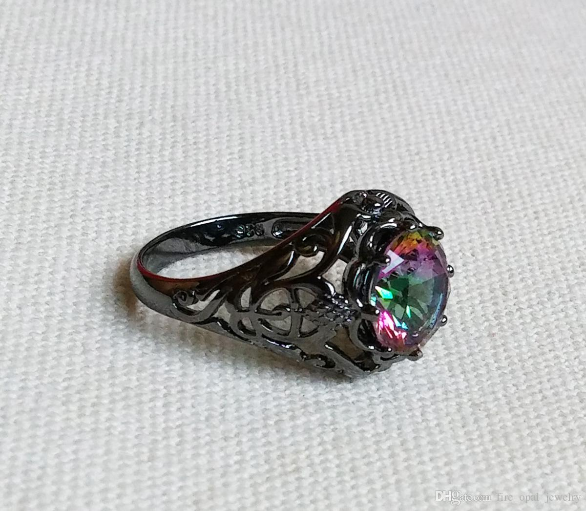 magical fire best jewel gold ring mystic topaz rings pinterest wedding filled on images cubic natural zirconia black