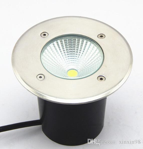 Free Shipping 10pcs/lot IP68 Super LED COB underground light,15W Warm White/White /Cold White COB, Diameter 120mm, 85-250V AC