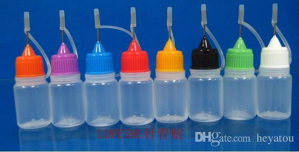 à venda ! 100 Pcs 5 ml 1/6 OZ gota garrafa com pontas de agulha, NOVOS Líquidos de LDPE EYE DROP E Vapor OIL